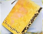 Handmade art journal, art journaling, mixed media, watercolor paper journal, travel journal