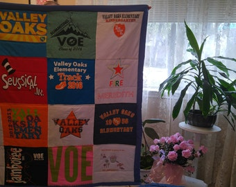 Tshirt Quilt Memory Blanket for Kids, Adults, or Baby