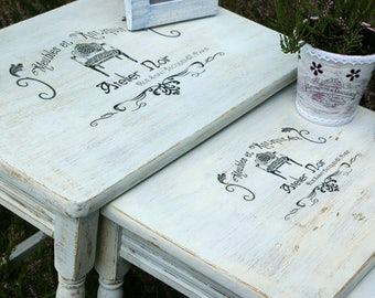 shabby chic coffee table | etsy