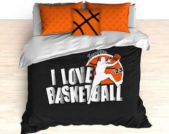 Basketball Comforter Duvet Bedding Personalized Custom King