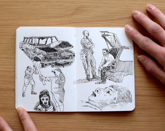 Artist's sketchbook, Ink Studies