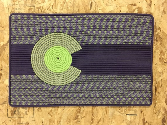 Items Similar To Colorado Flag Retired Rock Climbing Rope Rug On Etsy