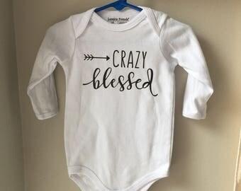 Crazy blessed baby onesie