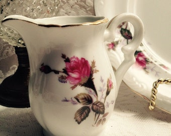 Vintage Bone China Briar Rose Creamer