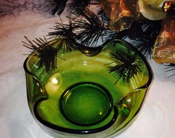 Sculptural Blown Glass Bowl France
