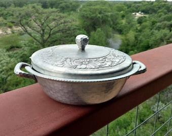 Vintage Hand Forged Aluminum Casserole Dish