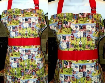 Children's Apron American Flag Pattern