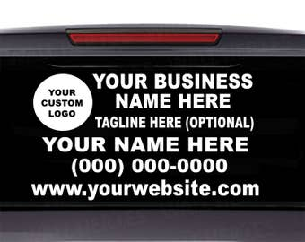 Small Business Decal Etsy - Custom car window decals business