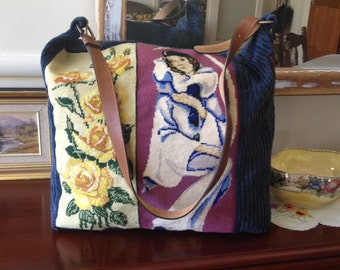 Roses and clown overnight bag
