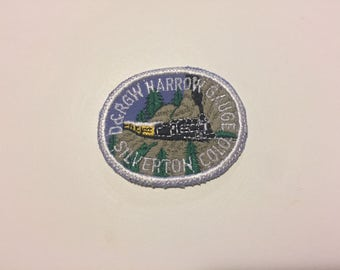 D&RGW Narrow Gauge  Silverton Colo. Vintage Souvenir Travel Patch