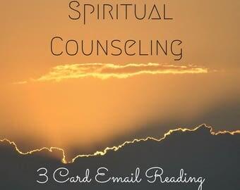 Spiritual Counseling Reading - 3 Card Email Reading - Intuitive Reading - Intuitive Guidance - Spiritual Insight - Spiritual Coaching