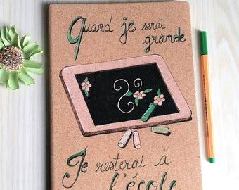 "Notebook Cork shown ""Special mistress"
