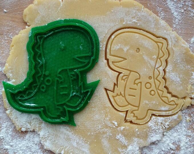 T.Rex cookie cutter. Dinosaur cookie stamp. Tyrannosaurus Rex cookies
