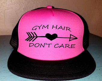 Gym Hair Don't Care Snapback Hat Custom Trucker Hat River Rat River Hat Lake Hat Havasu Life Summer Hat Adjustable Trucker Hat Gym Hat Beach