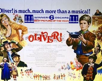 Vintage Oliver Movie Poster A3 Print