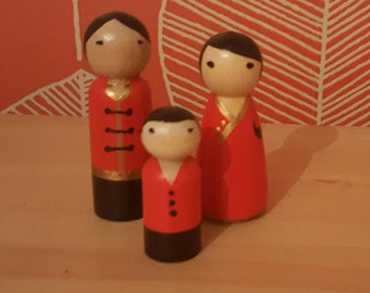 Chinese peg doll family