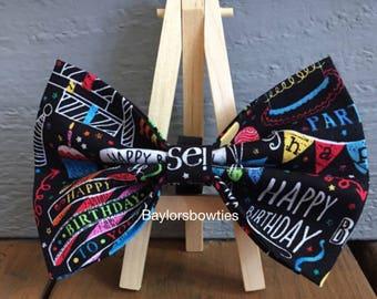 Happy Birthday, Dog bow tie