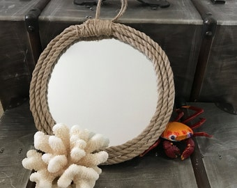 rope-framed mirror