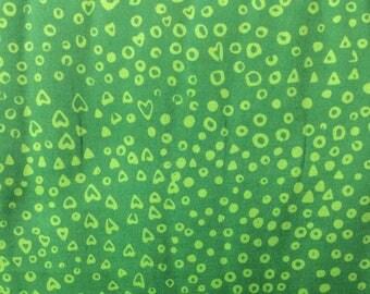 Batik in Green - Hoffman cotton fabric