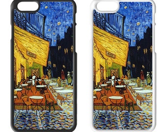 Van Gogh Art Plastic Phone Case iPhone 5 5C SE 6 7 Plus Galaxy J5 S6 S7 S8 Edge Xperia Z5 iPad Air Mini 2 3 4 No. 09 Café Terrace at Night