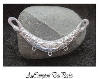 Antique Silver plated Serpentine Focal Link 125x60mm