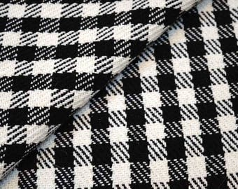 Black and White Jacquard Cotton Fabric, Upholstery Fabric