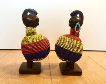 Couple de statuettes Tchad - Couple of Chadian statuettes