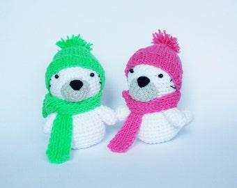 amigurumi crochet pattern seal / crochet pattern animals / soft toy seal / stuff toy seal crochet pattern /