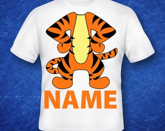 winnie the pooh,  Tigger Shirts ,Tigger Birthday ,Tigger T-Shirt, Tigger costume