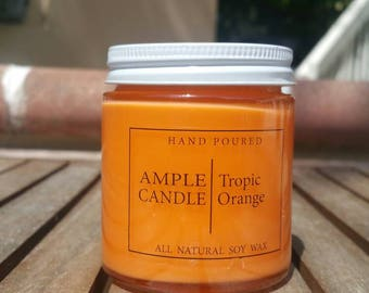Tropic Orange Scented Soy Candle