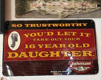Johnson Motors Rare Vintage Sign