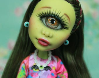 Reserved! Monster High Iris Clops Doll Repaint OOAK