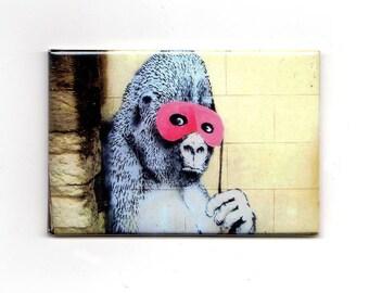 Banksy - Gorilla Masquerade Magnet