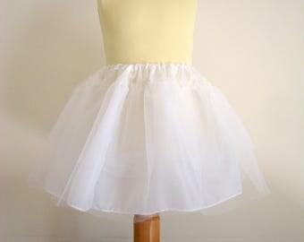 White baby dress and skirt petticoat