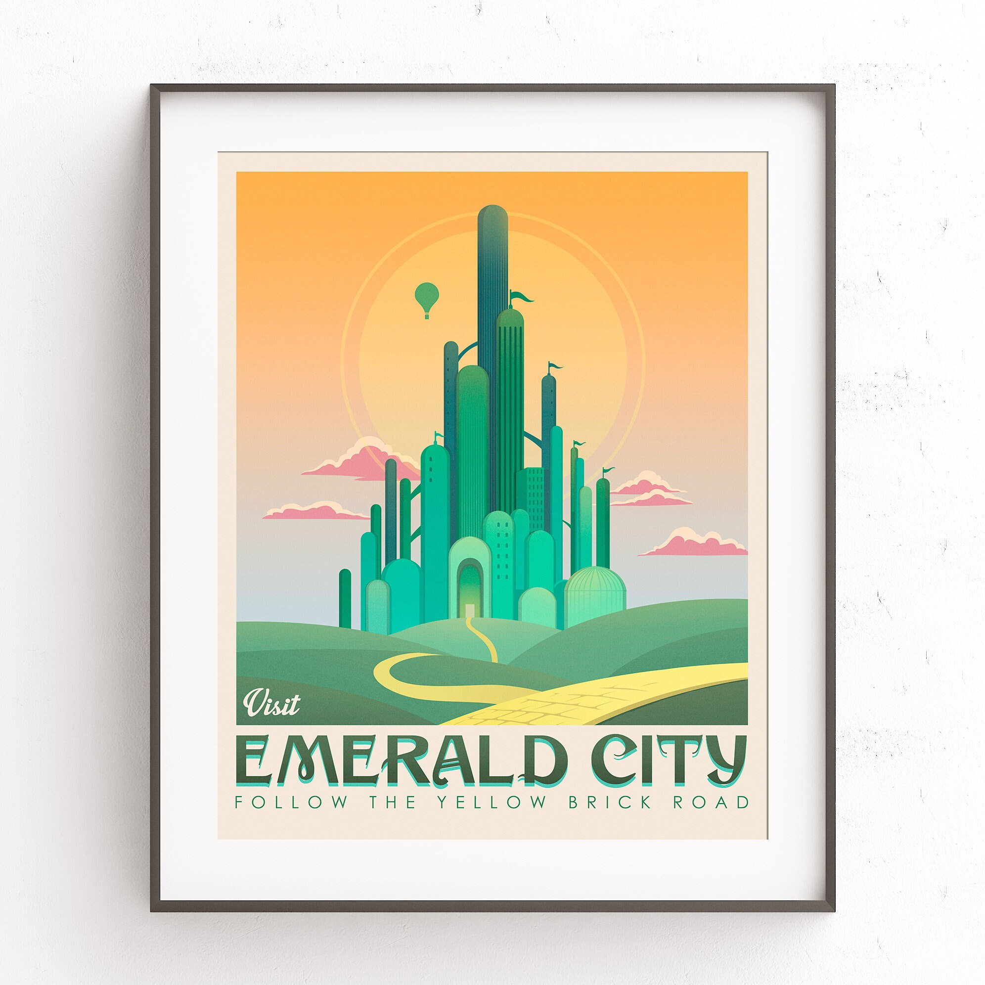 emerald city art the wizard of oz yellow brick road dorothy On emerald city nickname