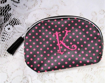 Personalized Make Up Bag, Monogram Cosmetic Bag Sorority Sister Gift, Bridesmaid Gift