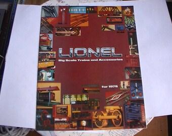 Mint Lionel Train Catalog 1978