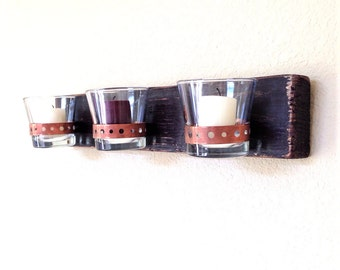 Rustic Wooden Candle Sconces / Rustic Wooden Candle Wall Sconces / Rustic  Wall Candle Holder / Part 59