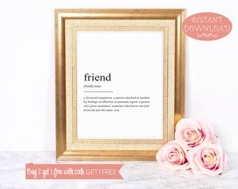 Printable Wall Art, Friend Definition Print, Wall Art Prints, Quote Print, Minimalist Print, Modern Art,Art Print, Wall Prints, Printable