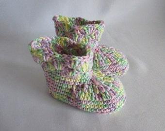 Cute baby shoes selfmade pastel from Babywolle ca. gr. 16/17 approx. 10 cm foot