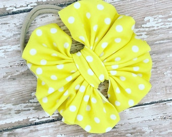 Yellow polka dots mini on nylon
