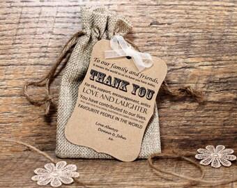 20 x Hessian Favour bag, Favour bags, burlap bag, wedding favours, rustic favours, vintage favours