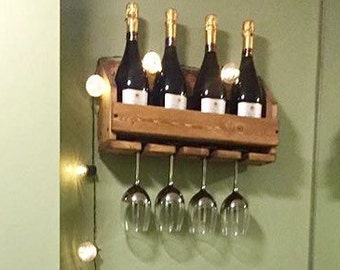 Wine rack, reclaimed wood, pallet wood, rustic, wine gift, mothers day gift, housewarming, anniversary
