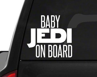 Baby Jedi on board decal