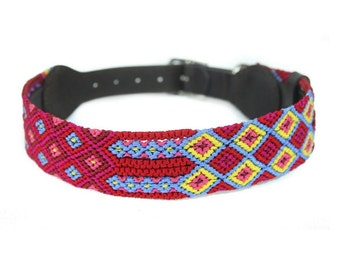 Mai Tai Dog Collar - Red/Yellow/Blue