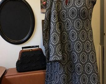 GoGo Dress/ 1970s Party Dress/ 1970s/ Little Black Dress/ Retro Dress