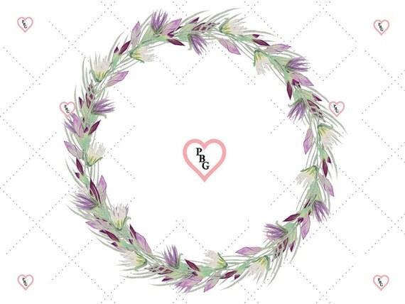 Floral Wreath ClipArt, Floral Wreath, Watercolor Clipart, Flower ClipArt, Commercial Use, Blog Graphics, Wedding ClipArt,  Wreath ClipArt