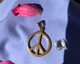 Peace charm for necklace or key ring Gold Wholesale