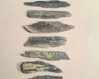 Beautiful Blue Kyanite Crystal, Set of 10, Natural/Raw, Metaphysical Tool, Mineral Specimen