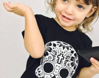 Calavera Onesie, Calavera T-Shirt, Sugar Skull, Mexican, Hispanic Onesie, Infant, Day of the Dead, Dia de los Muertos, Fiesta, Cinco de Mayo